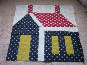 Patriotic Schoolhouse Block