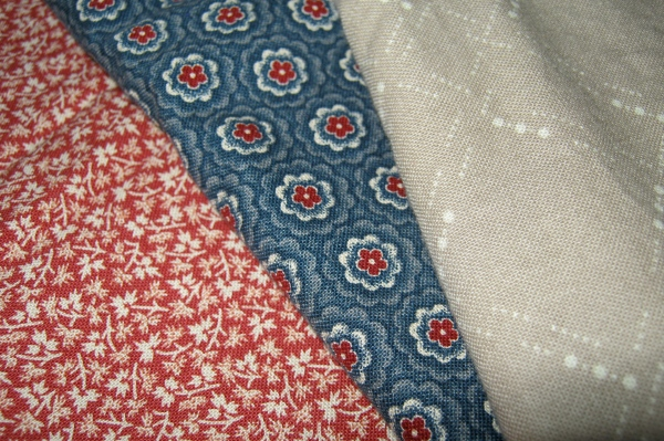 My Civil War Fabrics for the swap.