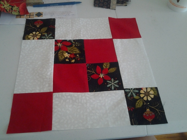 My September Christmas Block #1